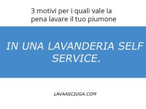 lavare il tuo piumone in una lavanderia self